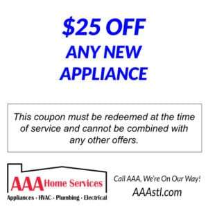 25 OFF NEW APPLIANCE SALES