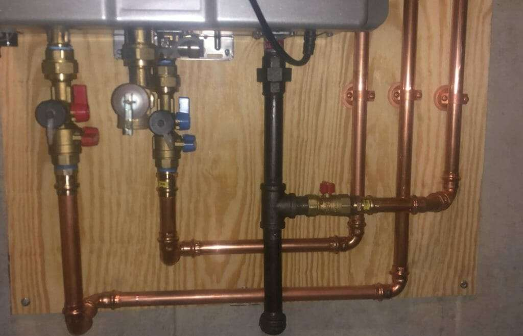 TANKLESS WATER HEATER PIPING
