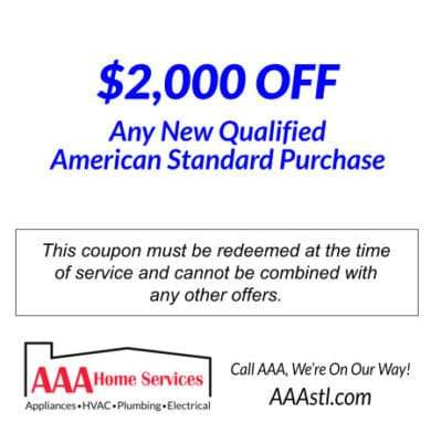 2000 Off Select American Standard HVAC Systems