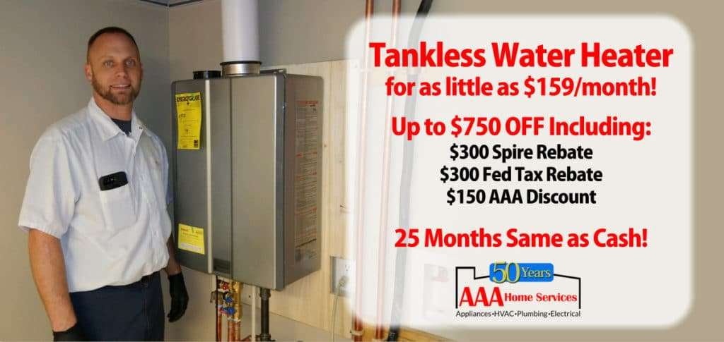 750 Off tankless water heater