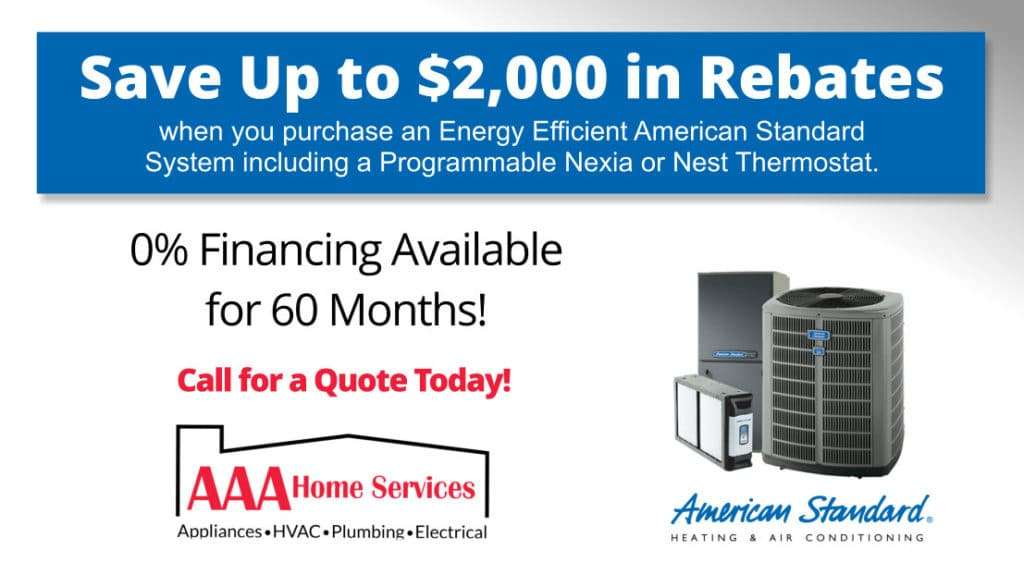 American Standard HVAC Air Conditioner Current Promotion