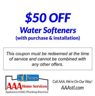 $50 OFF Water Softeners
